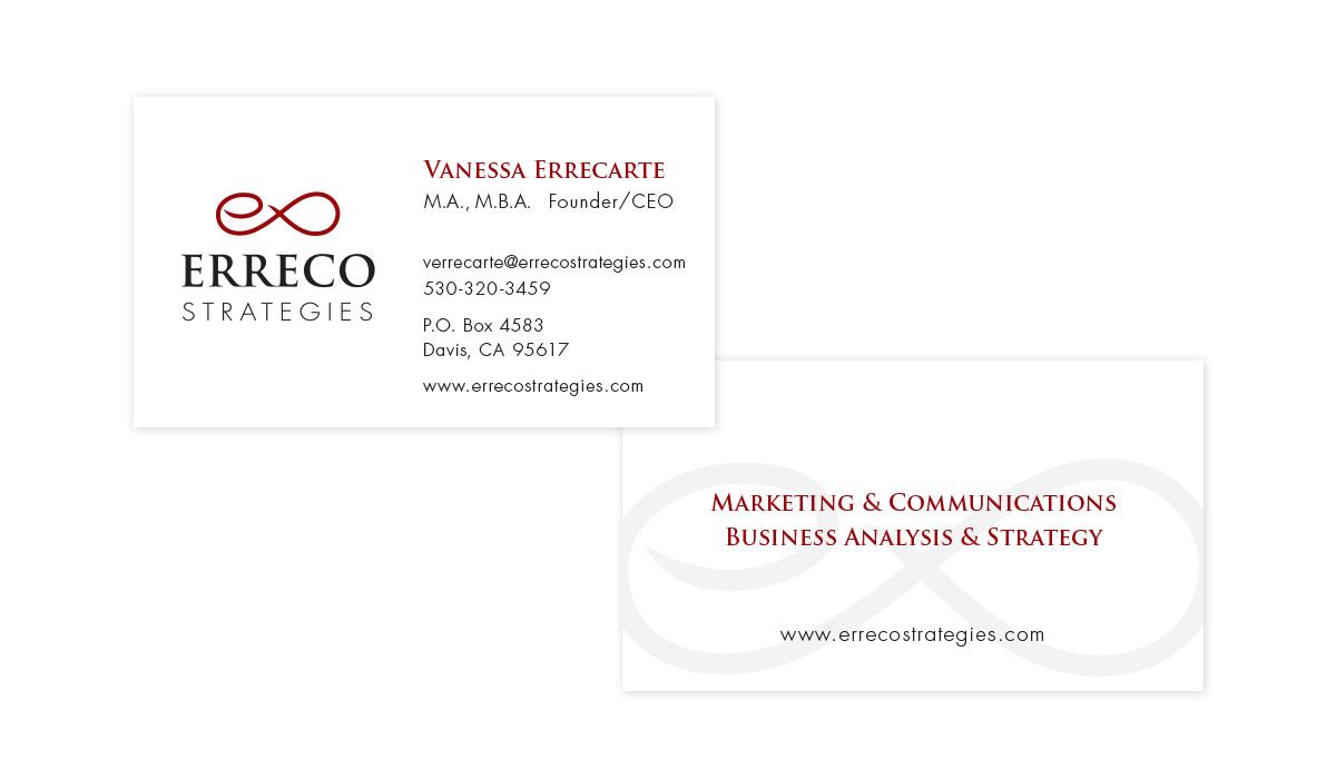 Erreco Strategies business card design