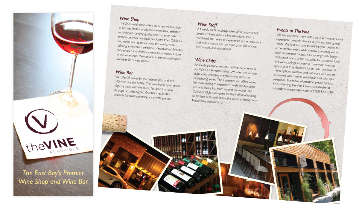 Brochure Design for wine bar