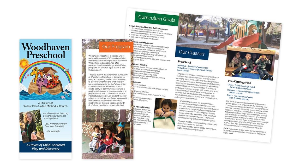 Preschool brochure design