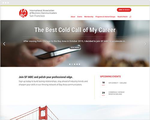 Website design for San Francisco group