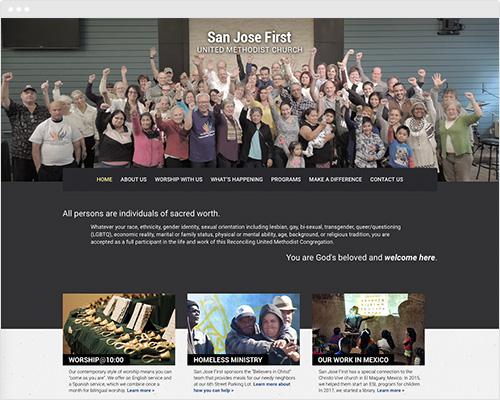 San Jose church website design